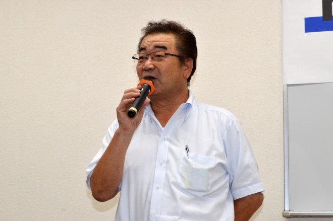閉会の挨拶を行う、KURS事務局次長の寺岡正幸氏