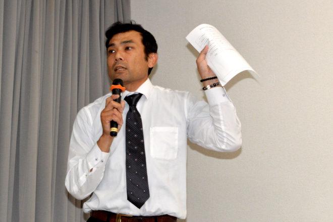 司会進行を務めたKURS安全対策委員の小田裕治氏
