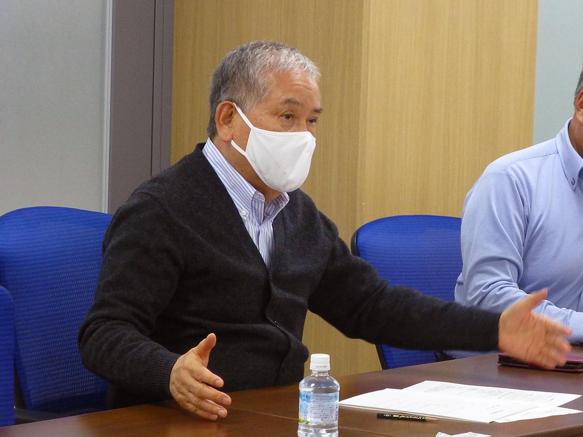 オーナー会会長の菅生行男氏