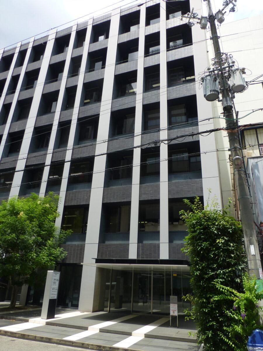 大阪広域生コンクリート協同組合が入る建物(大阪市中央区)。